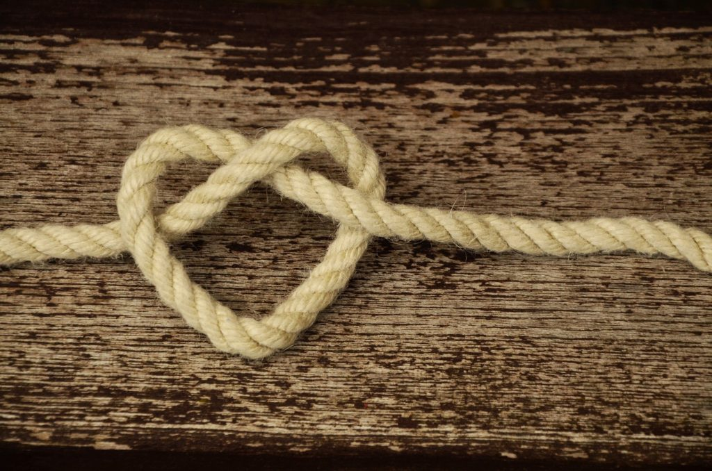Coeur en corde